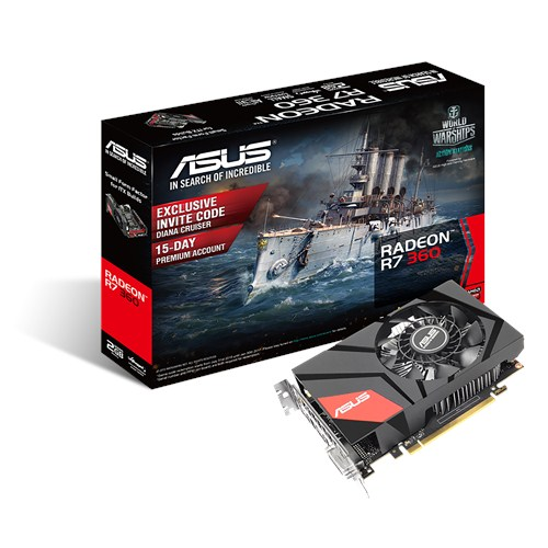 ASUS MINI R7360 2G R7 360 2 GDDR5 RETAIL