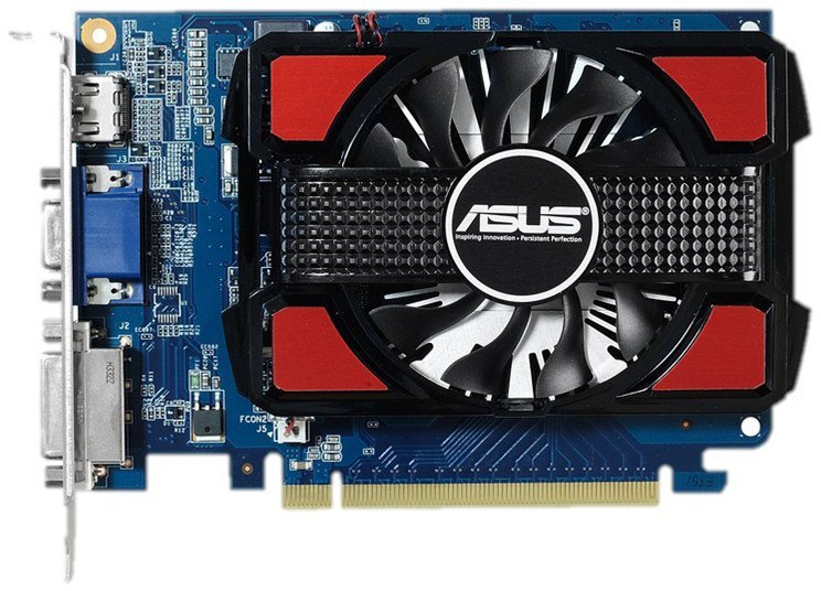 ASUS 2048MB GEFORCE GT730 PCI E 64BIT GDDR5 DVI HDMI